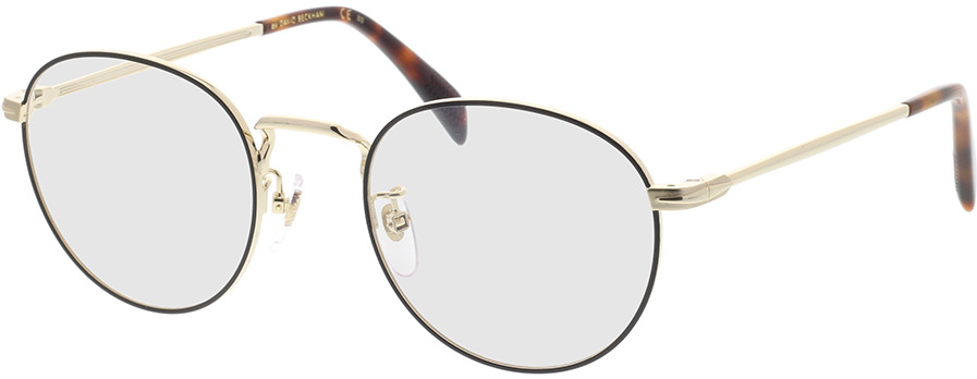 Picture of glasses model David Beckham DB 1015 RHL 50-21 in angle 330