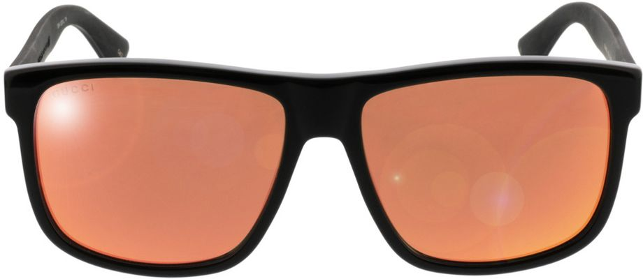 Picture of glasses model Gucci GG0010S-002 58-16 in angle 0