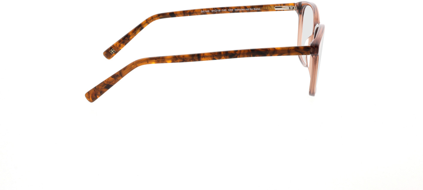 Picture of glasses model Cara-braun-transparent/braun-meliert in angle 90