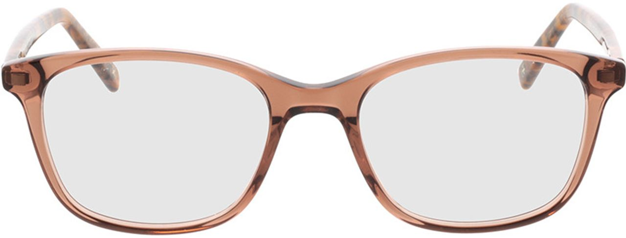 Picture of glasses model Cara-braun-transparent/braun-meliert in angle 0