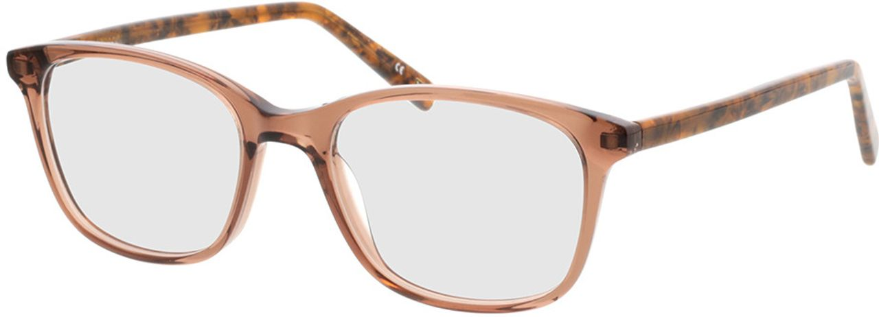 Picture of glasses model Cara-braun-transparent/braun-meliert in angle 330
