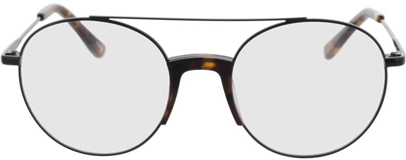 Picture of glasses model Lemgo-schwarz/havana in angle 0