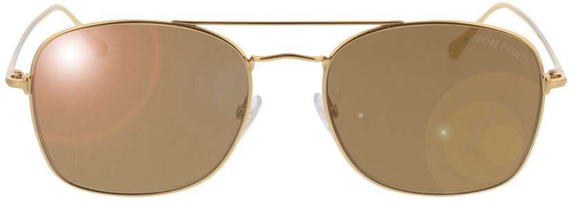 Picture of glasses model Tom Ford Luca FT0650/S 30G in angle 0