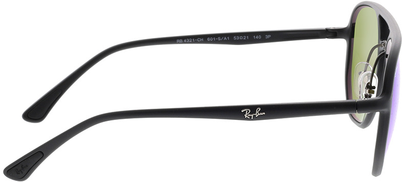 Picture of glasses model Ray-Ban Chromance RB4321CH 601SA1 53-21 in angle 90