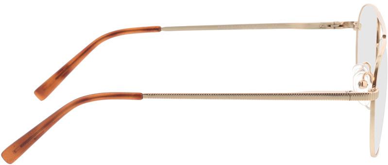 Picture of glasses model Metropolis-matt gold in angle 90