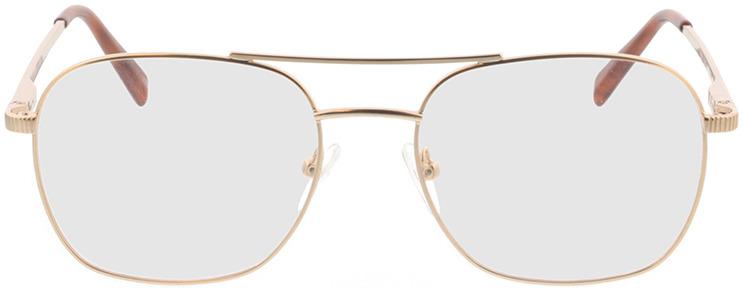 Picture of glasses model Metropolis-matt gold in angle 0