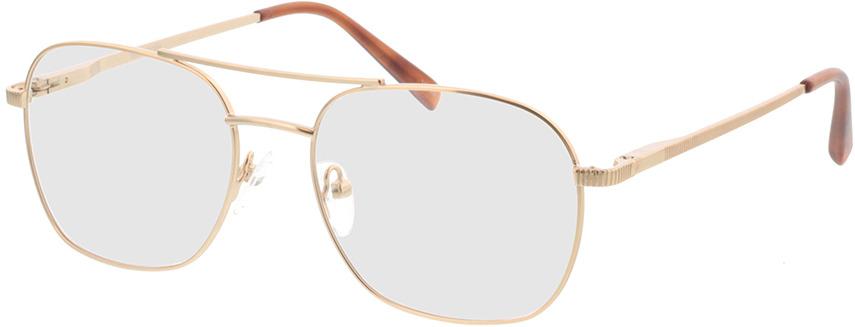 Picture of glasses model Metropolis-matt gold in angle 330