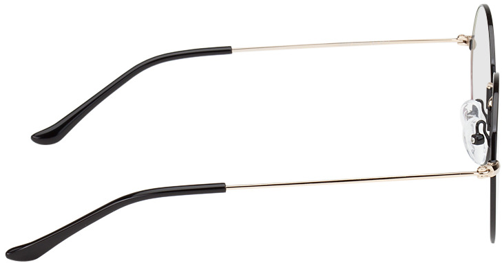 Picture of glasses model Brisbane-schwarz/gold in angle 90