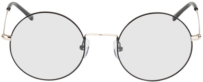 Picture of glasses model Brisbane-schwarz/gold in angle 0