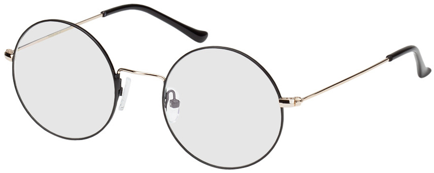 Picture of glasses model Brisbane-schwarz/gold in angle 330