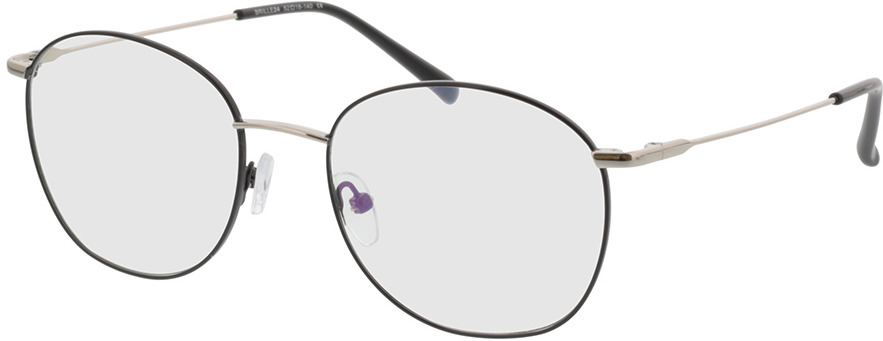 Picture of glasses model Asosa-schwarz/silber in angle 330