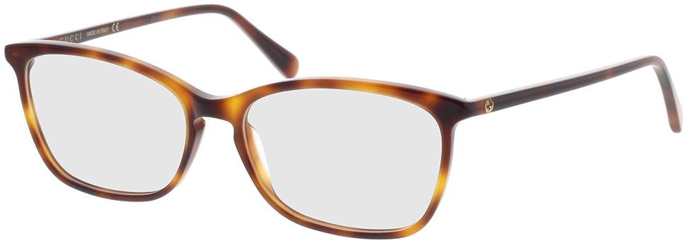 Picture of glasses model Gucci GG0548O-006 55-16 in angle 330