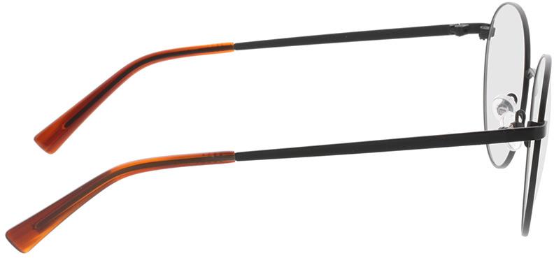 Picture of glasses model Rhea-schwarz/orange horn in angle 90