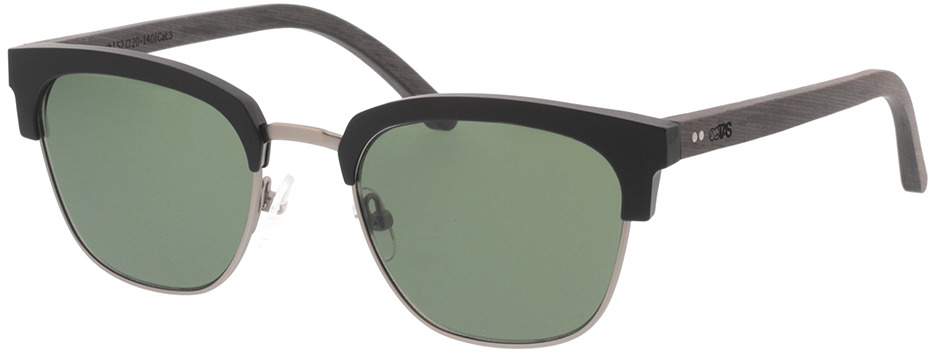 Picture of glasses model TAKE A SHOT Lynch: Schwarzes Eichenholz 50-20 in angle 330
