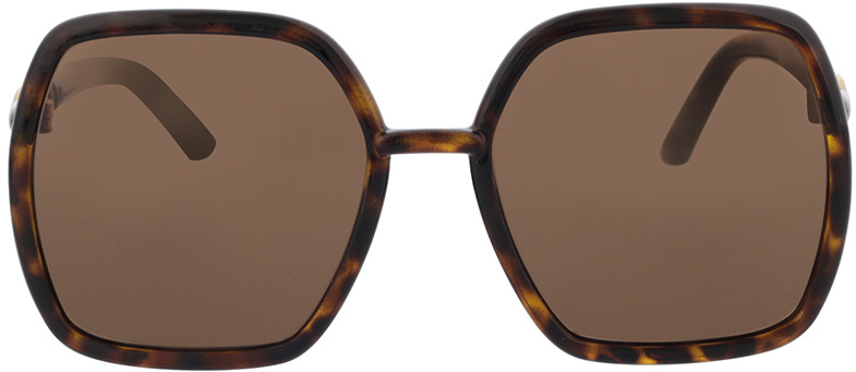 Picture of glasses model Gucci GG0890S-002 55-19 in angle 0