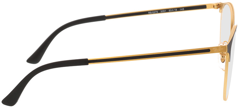 Picture of glasses model Ray-Ban RX6375 3051 53-18 in angle 90