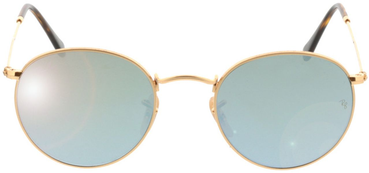 Picture of glasses model Ray-Ban Round Metal RB3447N 001/30 50-21 in angle 0