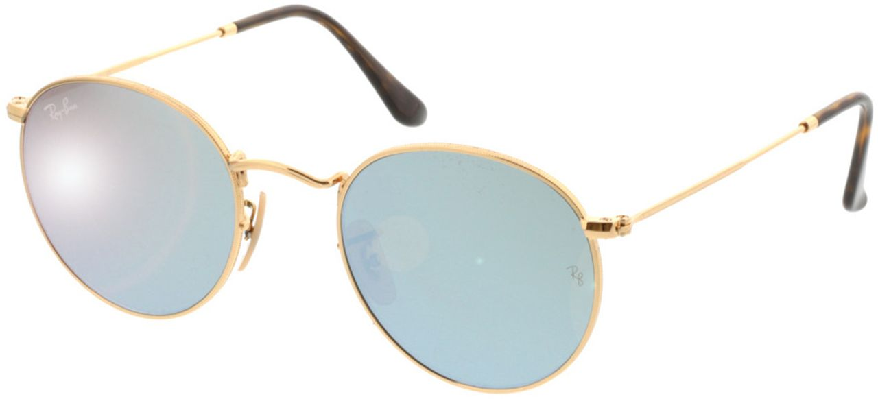 Picture of glasses model Ray-Ban Round Metal RB3447N 001/30 50-21 in angle 330
