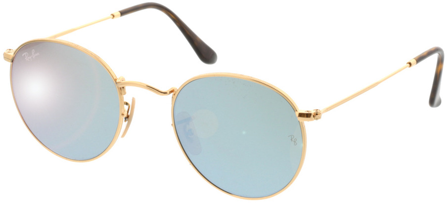 Picture of glasses model Ray-Ban Round Metal RB3447N 001/30 50-21