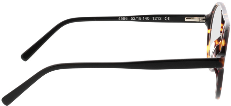 Picture of glasses model Alonis-castanho-mosqueado in angle 90