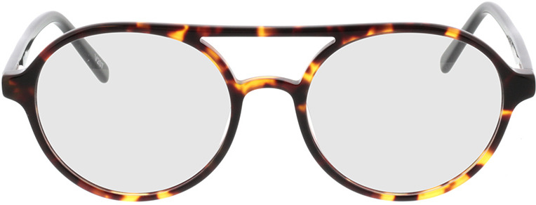 Picture of glasses model Alonis-castanho-mosqueado in angle 0