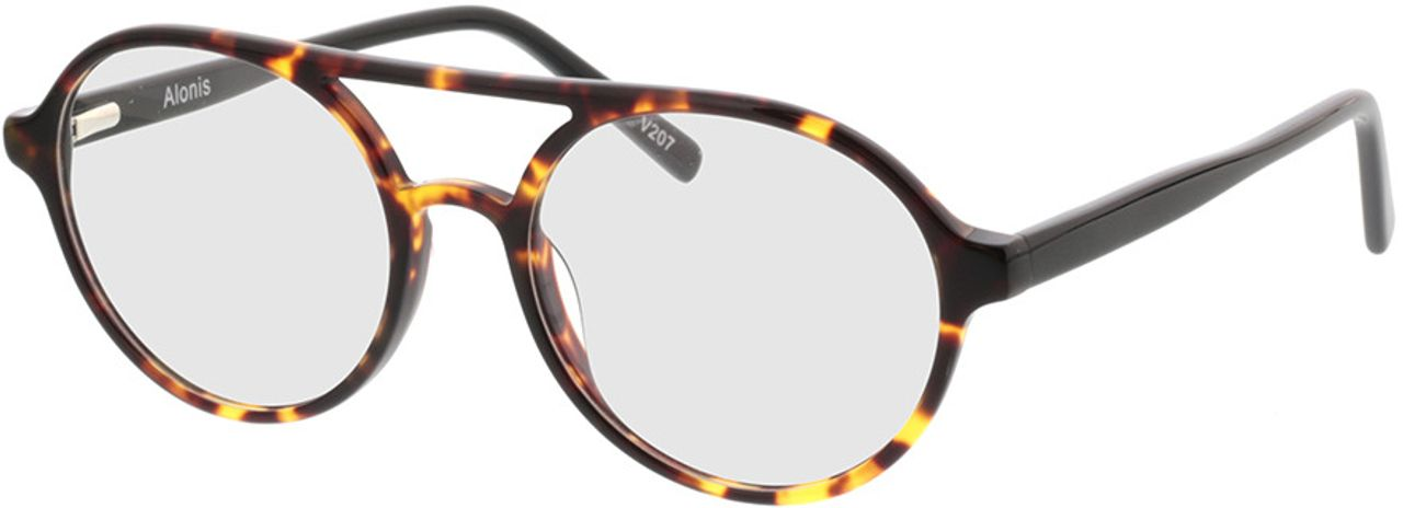Picture of glasses model Alonis-braun-meliert in angle 330
