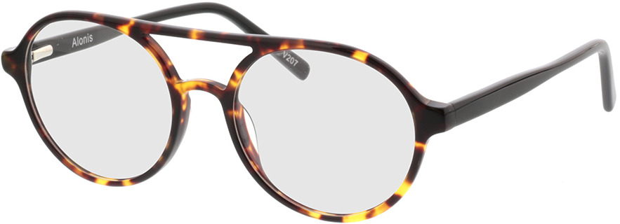 Picture of glasses model Alonis-castanho-mosqueado in angle 330