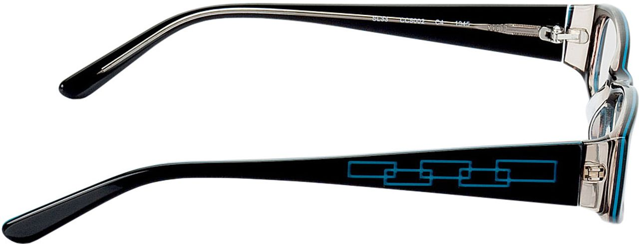 Picture of glasses model Florence-black-turquoise in angle 90