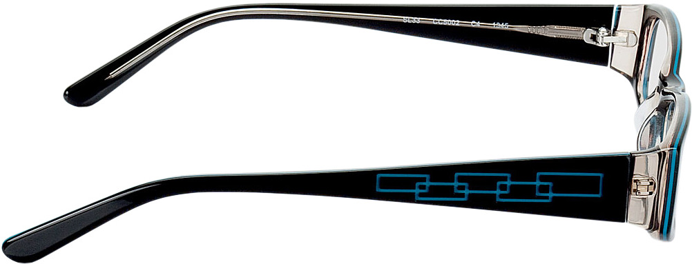 Picture of glasses model Florence black/turquoise in angle 90