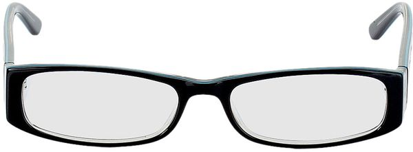 Picture of glasses model Florence-black-turquoise in angle 0