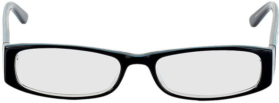 Picture of glasses model Florence black/turquoise in angle 0