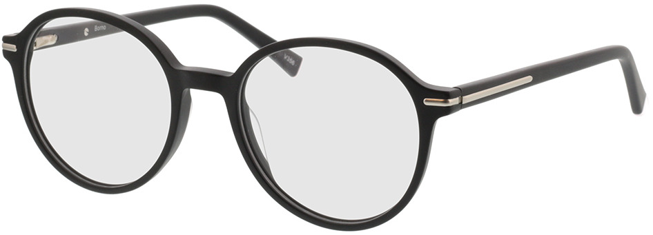 Picture of glasses model Borno mat zwart/mat zilver in angle 330