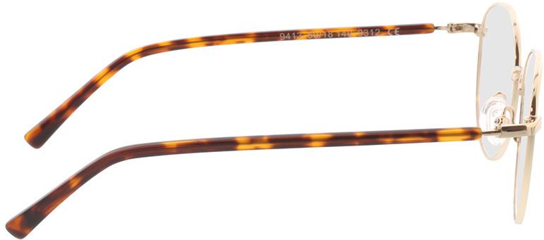 Picture of glasses model Utrecht-gold/havana in angle 90