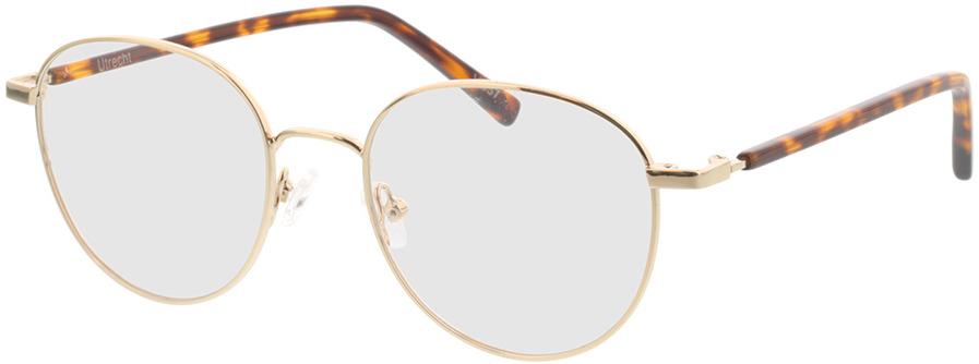 Picture of glasses model Utrecht-gold/havana in angle 330
