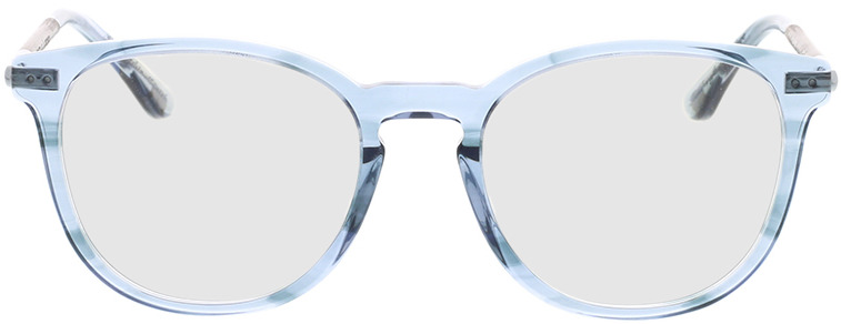 Picture of glasses model Wood Fellas Optical Pfersee walnut/smoked blauw 50-19 in angle 0