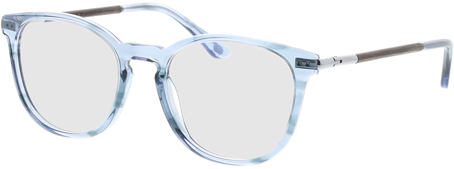 Picture of glasses model Wood Fellas Optical Pfersee walnut/smoked blauw 50-19 in angle 330