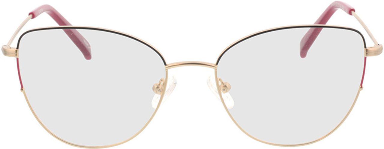 Picture of glasses model Luanda-matt gold in angle 0