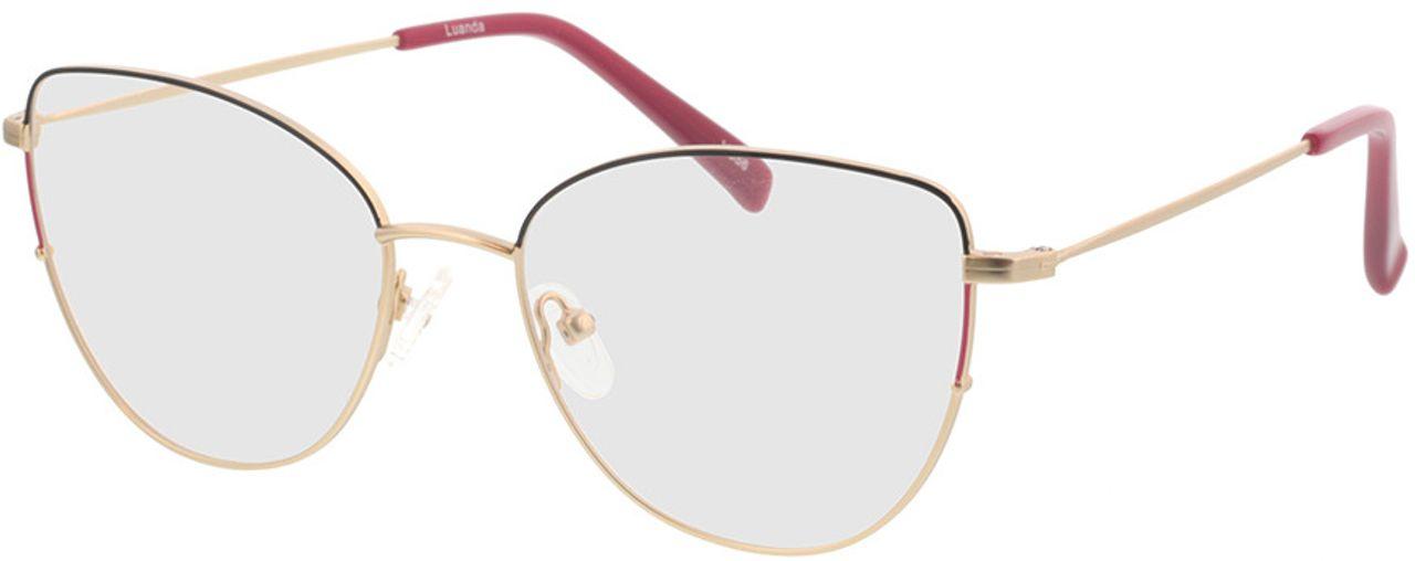 Picture of glasses model Luanda-matt gold in angle 330
