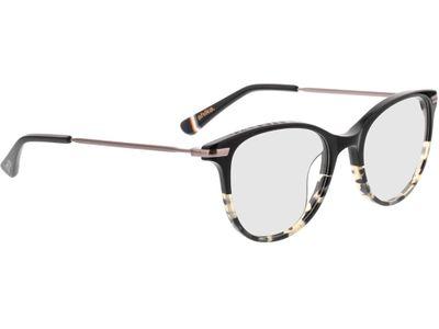 Brille Superdry SDO Shika 104 schwarz/beige befleckt 50-18