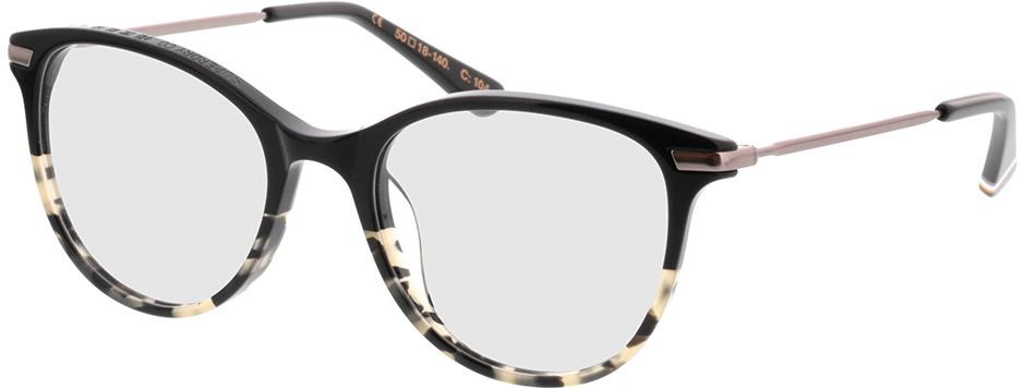 Picture of glasses model Superdry SDO Shika 104 Zwart/beige befleckt 50-18 in angle 330