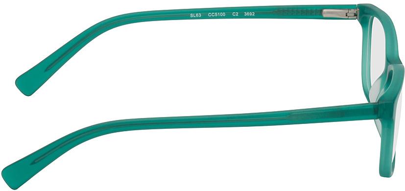 Picture of glasses model Brüssel-türkis-transparent in angle 90