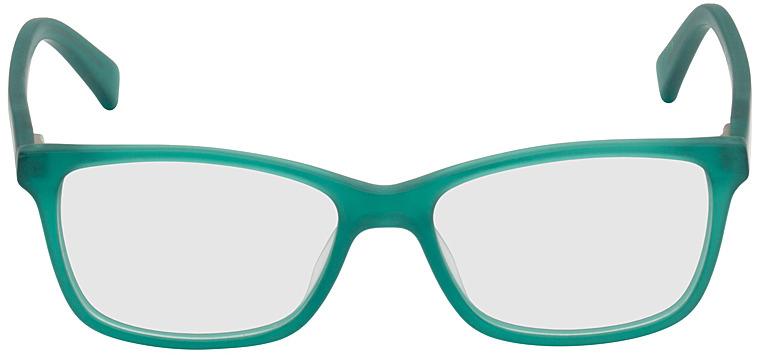 Picture of glasses model Brüssel-türkis-transparent in angle 0