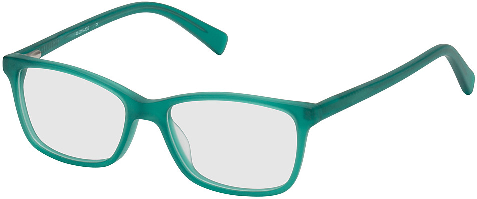 Picture of glasses model Brüssel-türkis-transparent in angle 330