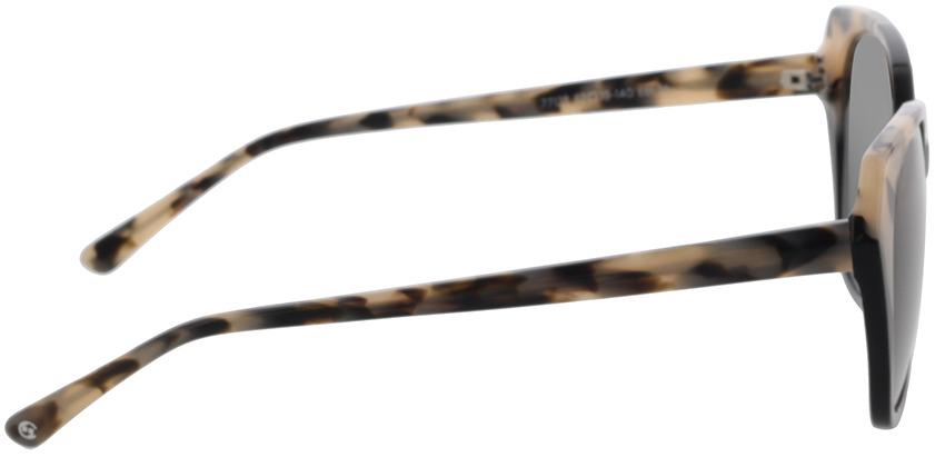 Picture of glasses model Comma, 77123 36 schwarz/beige schwarz gemustert 52-19 in angle 90