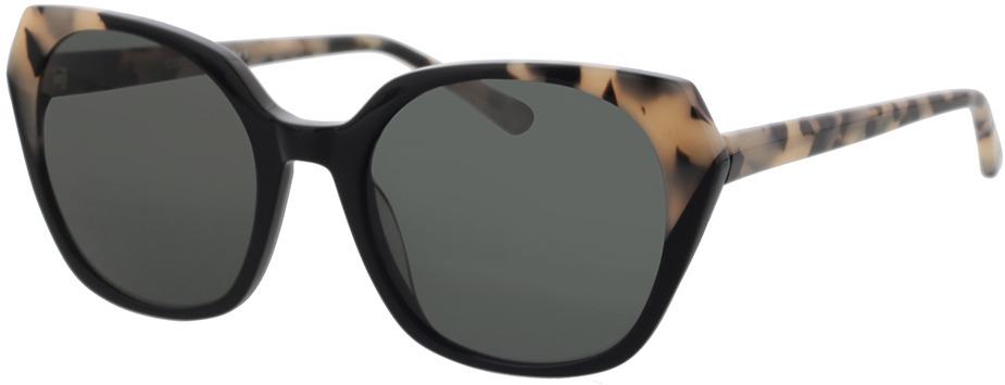 Picture of glasses model Comma, 77123 36 schwarz/beige schwarz gemustert 52-19 in angle 330