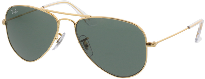 Picture of glasses model Ray-Ban Junior Aviator RJ9506S 223/71 52-14 in angle 330