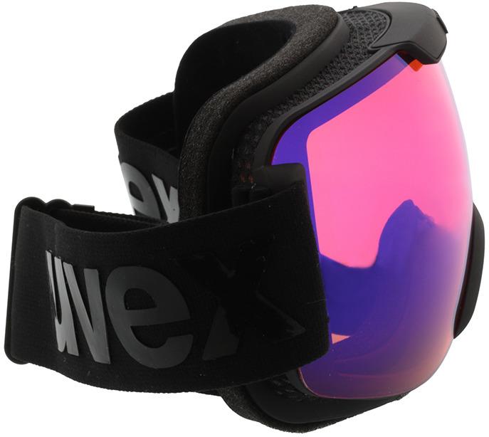Picture of glasses model Uvex Skibril Downhill 2000 CV mat zwart in angle 90