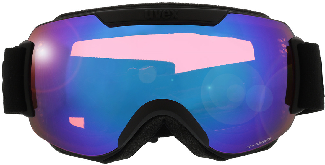 Picture of glasses model Uvex Skibril Downhill 2000 CV mat zwart in angle 0