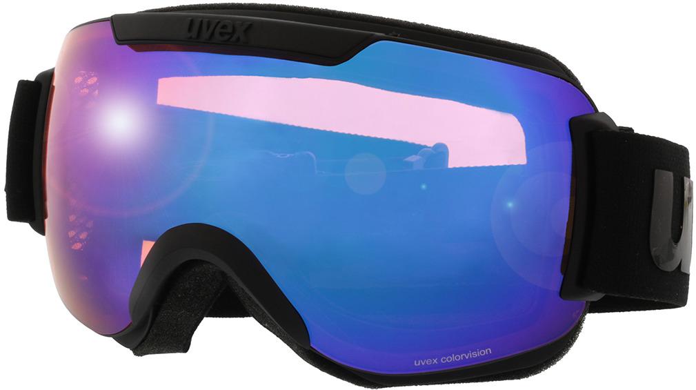 Picture of glasses model Uvex Skibril Downhill 2000 CV mat zwart in angle 330