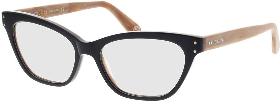 Picture of glasses model Gucci GG0570O-007 52-16 in angle 330